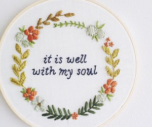 embroidery, faith, and lettering image