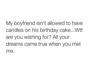 funny, boyfriend, and birthday image
