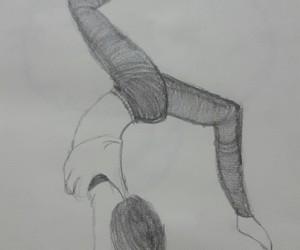 black, drawing, and girl image