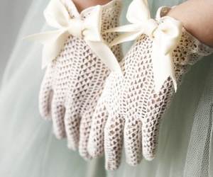 gloves, bow, and lace image