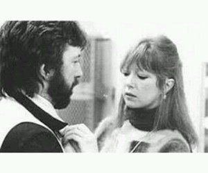 black and white, couple, and pattie boyd image