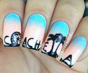 nails, coachella, and nail art image