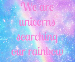 galaxy, rainbow, and unicorn image