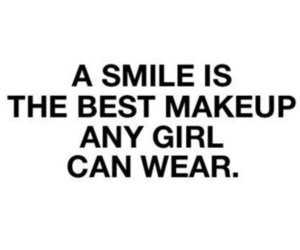 girl, smile, and text image