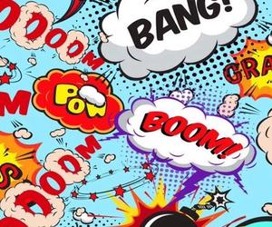 wallpaper, boom, and comic image
