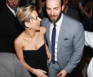 chris evans, Scarlett Johansson, and Avengers image