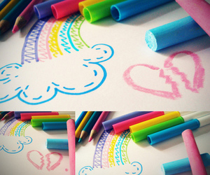colors, rainbow, and cute image