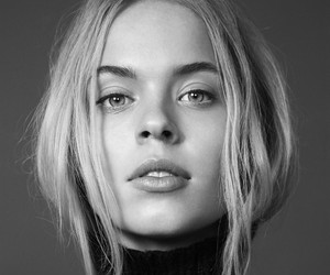 beauty, black and white, and blond image