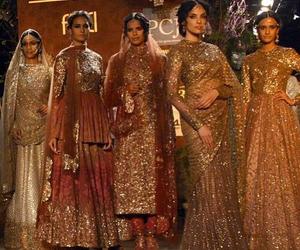 bridal wear, bride, and dress image