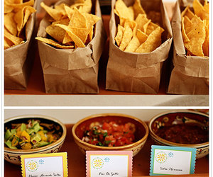 party food, mexican, and salsa image