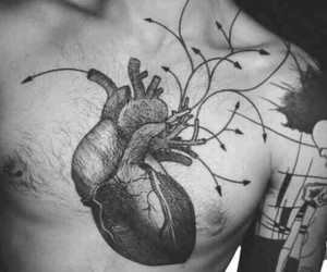 heart, ink, and tattoo image