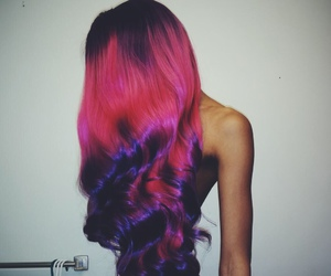 colored hair, so pretty, and ombre hair image