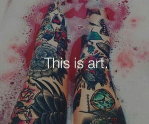 art, tattoo, and colors image