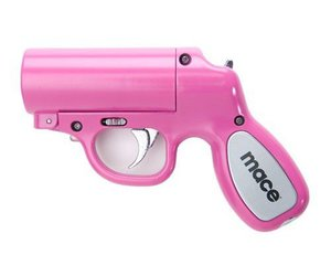 pink, gun, and girly image