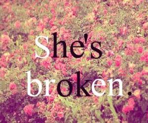 broken, ok, and flowers image