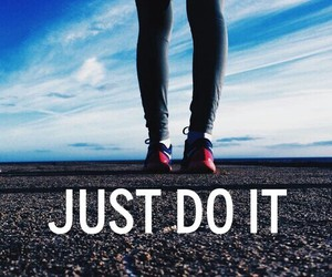 nike, girl, and Just Do It image