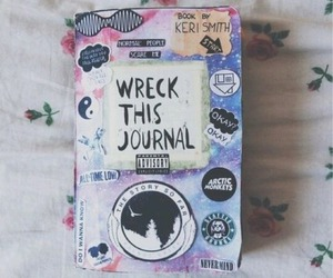 book, wreck this journal, and journal image