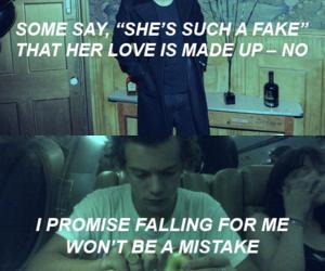 Harry Styles, one direction, and Lyrics image