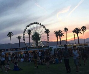 california, clouds, and coachella image