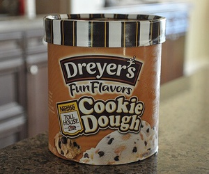 ice cream, food, and cookie dough image