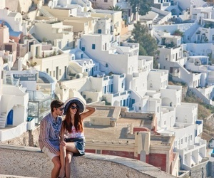 Greece, couple, and love image