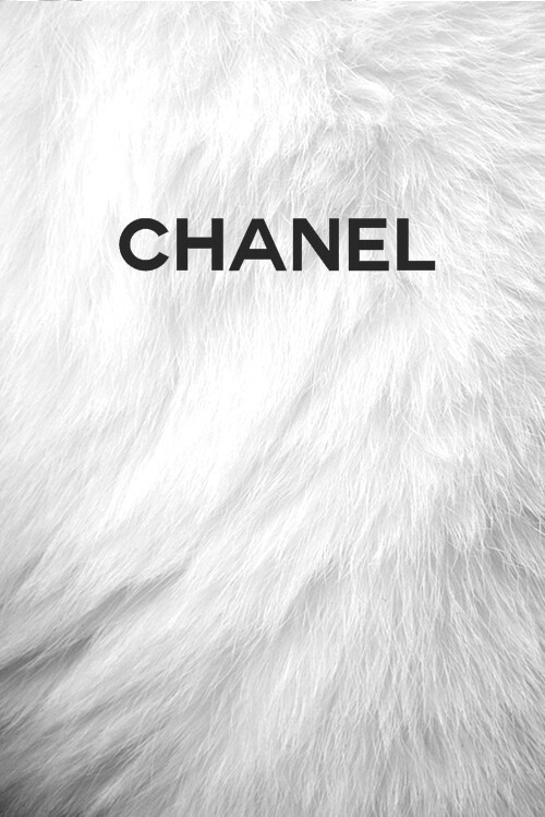 White fur Chanel wallpaper discovered