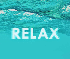 relax, blue, and water image