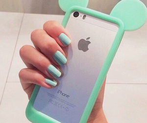 cases, nails, and iphone image