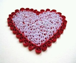 art, heart, and quilling image