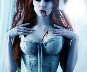 red hair, corset, and ophelia overdose image