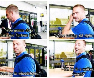 paul walker, fast and furious, and funny image