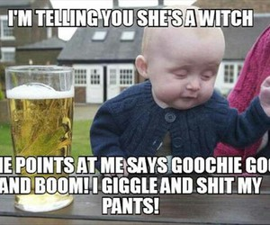 baby, funny, and witch image