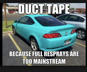 car, mainstream, and duck tape image