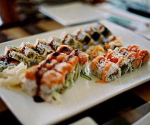 sushi, food, and lunch image