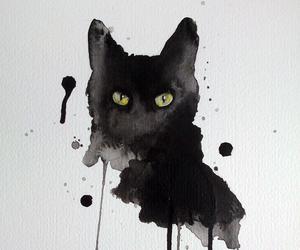 art, cat, and artwork image