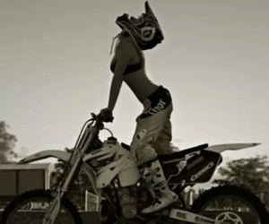 girl, sexy, and motocross image