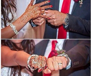 marriage, couple, and henna image