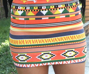 fashion, skirt, and aztec image