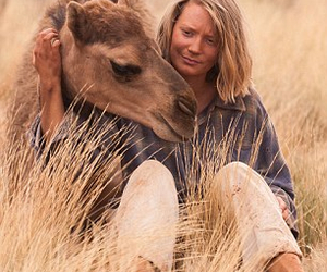 camel, Robyn, and tracks image