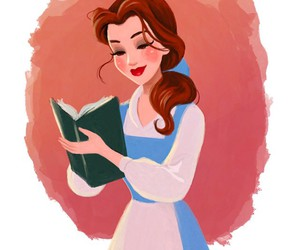 disney, belle, and art image