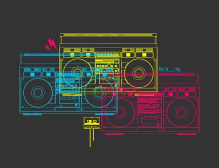cmyk, music, and stereo image