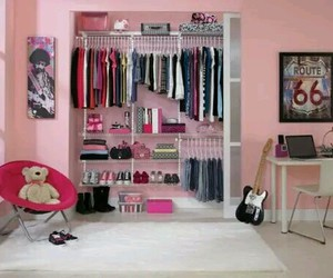 closet, pink, and room image