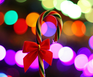 christmas, candy, and bow image