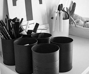black, cans, and crafts image