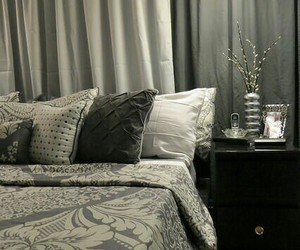 bedding, curtains, and damask image