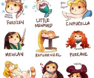 cat, disney, and princess image