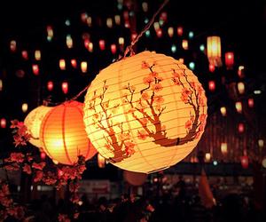 japan, light, and night image