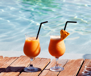 drink, summer, and pool image