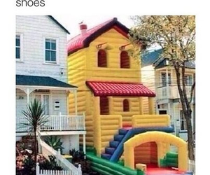 funny, lol, and bouncy house image