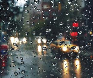 rain, city, and car image